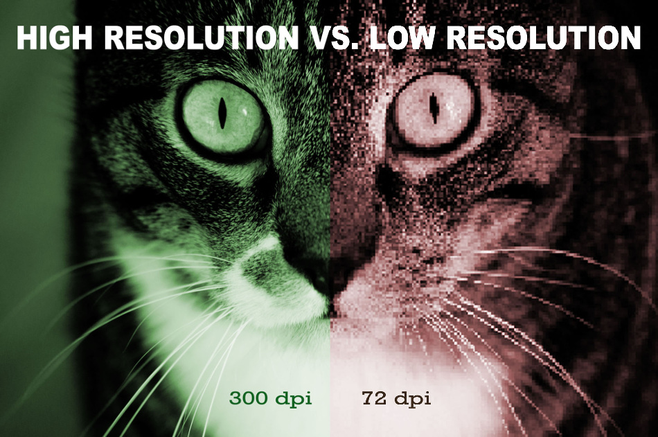 high vs low resolution image